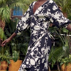 JOHANNA ORTIZ NWT x H&M. Long wrap dress